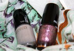 Artdeco Gray Cameo & Sparkling Purple #artdeco #ceramicnaillacquer