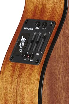Australian, Handmade, Acoustic EMM 6 from Maton Guitars. AP5 Pro Pre-amp Close-up.