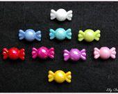 Perle bonbon gourmand nacré multicolore x1 : Perles en Plastique par lilycherry