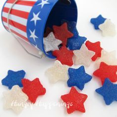 Red, White, and Blue Gumdrops made in your home kitchen.