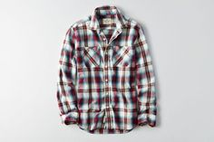 AEO PLAID WORKWEAR SHIRT Classic plaid button up shirt with tough workwear details. A versatile layer that can take whatever you throw at it. Style: 2153-9675 | Color: 600 https://s7d2.scene7.com/is/image/aeo/2153_9675_600_f?$pdp-main$