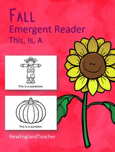 This is Fall Printable Emergent Reader Book for Young Readers. Prek or Kindergarten.