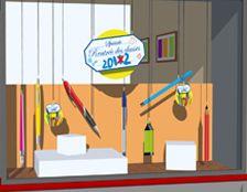 D coration vitrine kit rentr e des classes http www i deco - Magasin de decoration ...