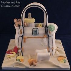 Mother and Me, Creative Cakes, Cake makers, Hemel Hempstead Baby Shower Items, Baby Shower Cakes, Beautiful Cakes, Amazing Cakes, Diaper Bag Cake, Designer Baby Bags, Baby Shower Finger Foods, Bebe Shower, Make Up Cake