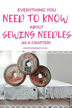 Are you ready to learn everything you need to know about sewing needles as a beginner? If you've been sewing for a while, or you're interested in troubleshooting your sewing issues, check out this guide! You could be using the wrong sewing needle for the type of fabric that you're using. Find out which needles are used for which type of sewing project, the best needles to use and how to know the exact sewing needle that you need for the project you're making Sewing Hacks, Sewing Crafts, Sewing Projects, Diy Projects, Sewing Tips, Fabric Crafts, Sewing Ideas, Sewing Patterns, Good Tutorials