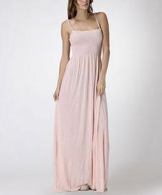 Light Pink Shirred Maxi Dress