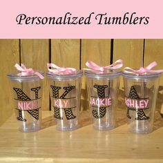 Personalized Bridesmaid Tumblers Glass Set by PersonalizedGiftsbyJ, $50.00