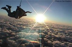 Skydiving, on my #BucketList ...Even if I might die doing it! lol