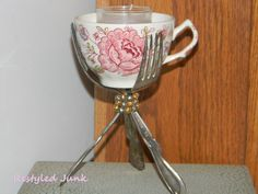 Silverware and Teacup Candle Holder-Tutorial