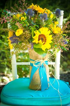 sunflower bouquet  //  donna beck photography