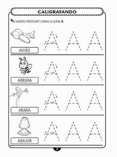ALFABETIZAÇÃO CEFAPRO DE PONTES E LACERDA : Sugestão de Atividades com a letra A