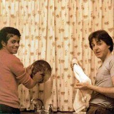 Michael Jackson and Paul McCartney