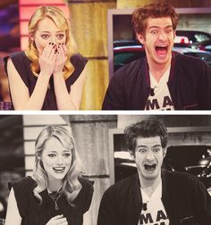 Emma Stone and Andrew Garfield being glorious