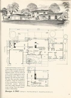 70s Vintage House plans, mid century homes