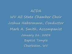 WV All-State Chamber Choir - How Can I Keep From Singing arr. Gwyneth Walker - YouTube
