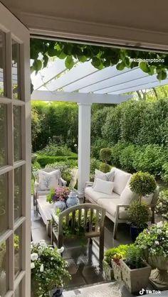 Small Backyard Patio, Backyard Patio Designs, Backyard Landscaping, Patio Ideas, Backyard Ideas, Backyard Pools, Diy Patio, Backyard Shade, Wood Patio