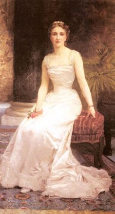 Portrait of Madame Olry Roederer by William-Adolphe Bouguereau (1825 - 1905) he is one of my fav. artists