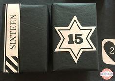 Adventskalender Zahlen zum Ausdrucken beige auf schwarz im SeidenpapierStern Handletterin www.meinesvenja.de