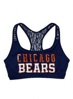 Chicago Bears Lace Yoga Bra - Victoria's Secret PINK® - Victoria's Secret