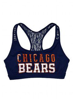 Chicago Bears Lace Yoga Bra - Victoria's Secret PINK® - Victoria's Secret