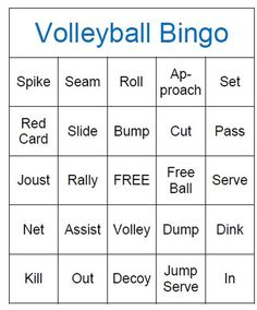 Volleyball Bingo Game Instant Download by coolcraftsandmore, $5.00