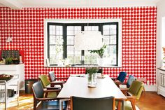 red dot delightful photo by Ole Jais for Hus & Hern via Scandinavian with love