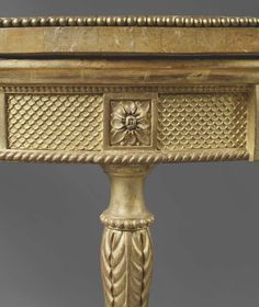 Thomas Chippendale: A Pair of George III Giltwood Demi-Lune Tables by THOMAS CHIPPENDALE - Mackinnon - Fine Furniture
