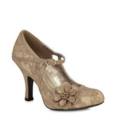 New Trending Celebrity Looks: Ruby Shoo Women's Gold Elsy Lace Mary Jane Pumps UK8 EU41.    Ruby Shoo Women's Gold Elsy Lace Mary Jane Pumps UK8 EU41   Special Offer: $60.38      288 Reviews   Perfect for the party season, ELSY oozes vintage glamour, with its delicate lace overlays and luxurious faux suede trims. Choice of glamorous gold or black over champagne. The shoe is...