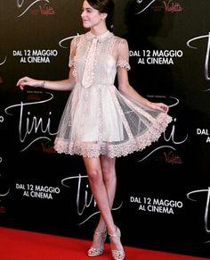 Tini Stoessel in Rome, Tini El Gran Cambio De Violetta premiere Celebrity Singers, Teen Actresses, Celebs, Celebrities, Good Music, Lace Skirt, Dancer, Cinema, Ballet Skirt