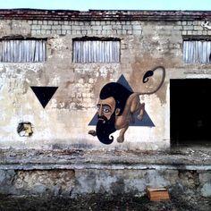 "Kislow ""Lion"" New Street Piece - Sevastopol, Ukraine"