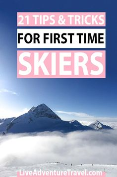 21 First Time Ski Tips for Beginners covering what to bring on a ski trip choosing the best ski resort for first time skiers the importance of wearing a helmet the best slopes for beginners building up confidence as you ski and skiing photographs. Travel Advice, Travel Guides, Travel Tips, Travel Hacks, Travel Packing, Solo Travel, Budget Travel, Ski Tips For Beginners, Ski Europe