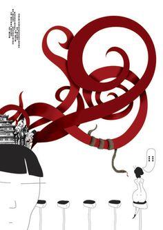 Ilustration by matias rivas, via Behance
