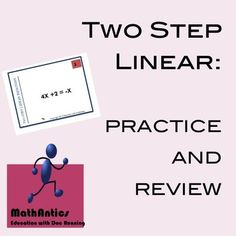 Super fun way to engage students in practice and review of two-step and multi-step linear equations.