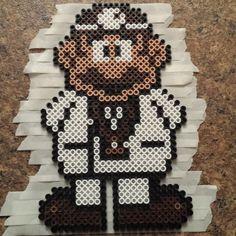 Doctor Mario perler beads by reccakun