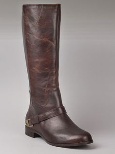 UGG® Australia Womens Channing II Boots in Chocolate.  You'll love the comfort and style of these tall boots with a partial side zipper for easy wear. The Channing II boots shoes for women have a chocolate brown pebbled leather upper and the sheepskin boot lining that you expect and love from UGG® boots.