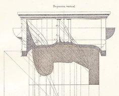 Vignola Architectural Drawing 1920s Vintage door CarambasVintage