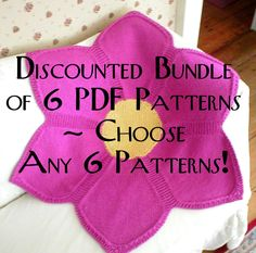 Pattern Bundle - Bundle of 6 PDF patterns of your choice! by DawnBroccoDesigns on Etsy