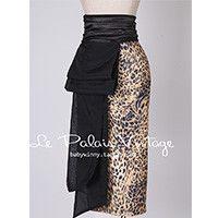 Gender: Women Waistline: Empire Decoration: Bow Pattern Type: Leopard Style: Fashion Material: Nylon,Spandex,Voile Dresses Length: Knee-Length Silhouette: Pencil Model Number: XS S M L Pattern: Leopar