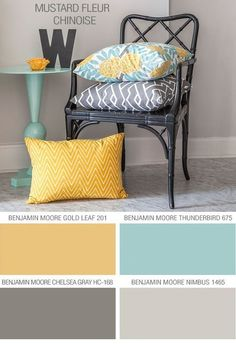 Benjamin Moore color scheme, for one of the guest rooms - THE EXACT COLORS i WAS CHOOSING FOR THE LIVING ROOM