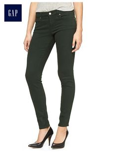 Factory legging jeans: love this color for the season