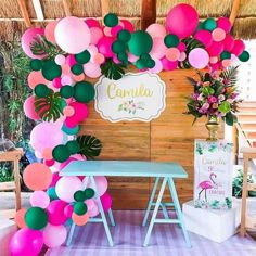 Safari Birthday Party, Luau Birthday, 1st Birthday Girls, First Birthday Parties, Birthday Party Decorations, Girl Birthday Party Themes, Hawaiian Party Decorations, Birthday Backdrop, Birthday Ideas