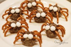 Meat balls - Donut hole spiders; food craft