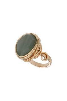 Jade Wrap Stone Ring