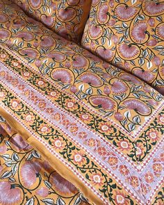 """S T U D I O B A Z A R 🌿 on Instagram: """"Our Bed Sets are now available online🌸 Each set is a piece of art made by talented Block Printers in Jaipur. 💞 See more online for details✨"""" Bed Sets, Sustainable Clothing, Jaipur, Printers, Industrial Style, Bedding Sets, Hand Embroidery, Bohemian Rug, Art Pieces"""