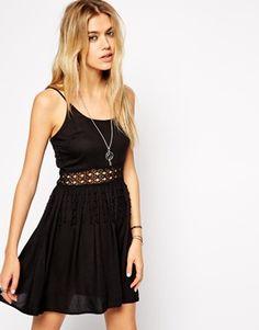 ASOS+Crochet+Waist+Insert+Beach+Dress