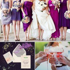 Love unmatching bridesmaid dresses