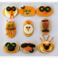 silly food for kids images | Silly Face Snacks {Edible Art Projects for Kids}