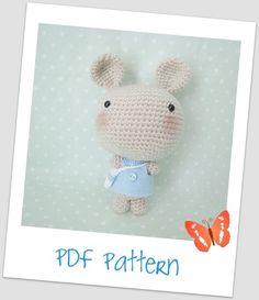 Crochet Pattern PDF Amigurumi Bunny by CSCrochet on Etsy, $5.00
