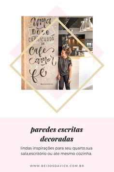 Beijos da vick: INSPIRAÇÕES DE PAREDES DECORADAS Polaroid Film, Pasta, Lettering, Blog, Home Decor Wall Art, House Cleaning Tips, Kisses, Invitations, Frames