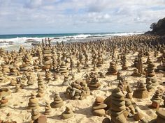 Driving along and suddenly stumble across some serious art installation on the beach... or maybe the aliens got bored of crop circles and started rock stacking  #apollobay #travel #beach by hayleyamarlow.pdf http://ift.tt/1LQi8GE